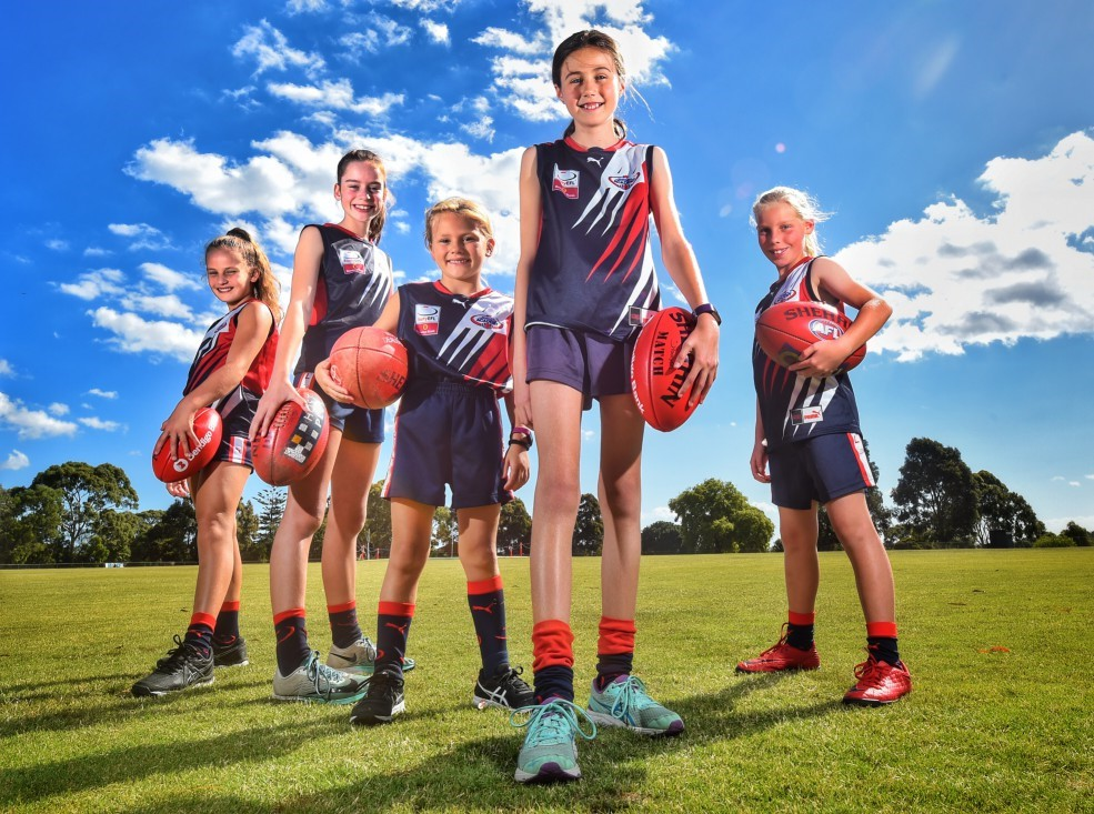 Some of our 2018 Junior Girls who appeared in a promotion in Herald Sun newspaper