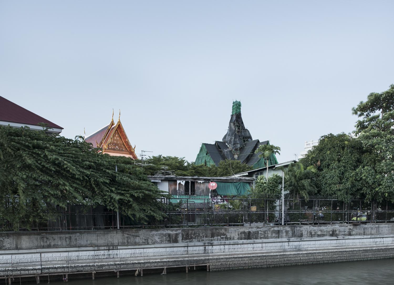 Wrapped temple, Bangkok, Thailand, 2015