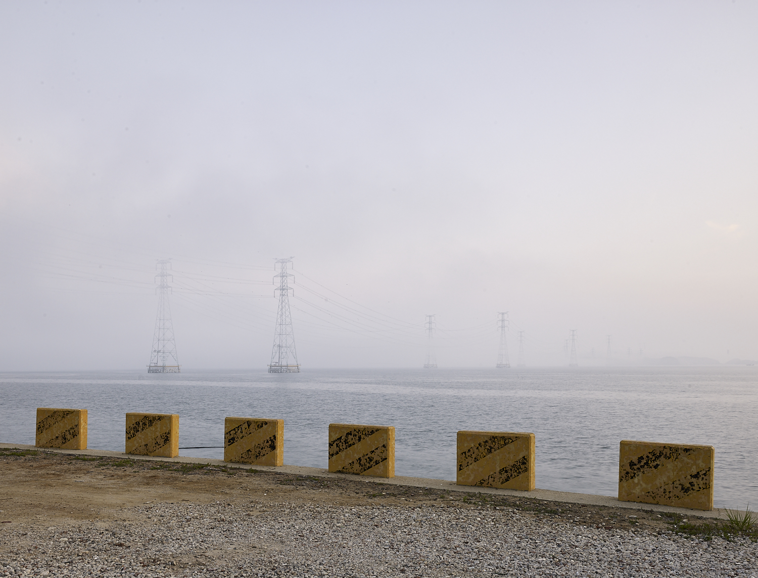 Power lines, The Yellow Sea, Danwon-gu, South Korea, 2016