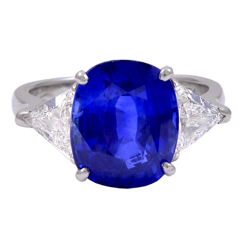 3a3b77365dde8 Gorgeous Cushion Cut Blue Sapphire 8.04cts Ring — Jeri Cohen Fine Jewelry