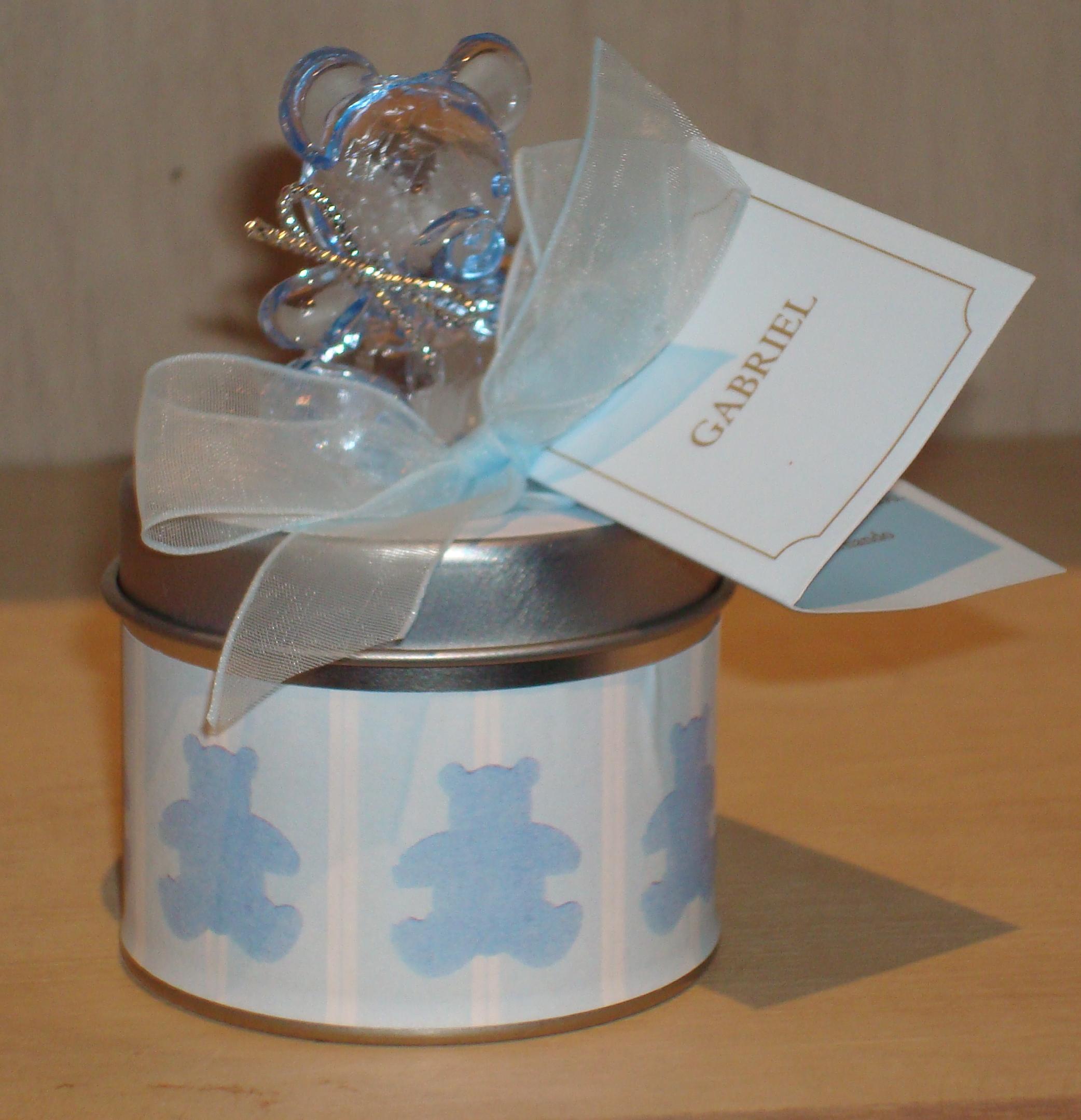 Latinha Ursinho Azul: R$19,50 (unid.)