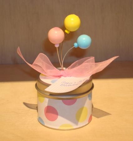 Latinha com Balões Coloridos: R$20,50 (unid.)