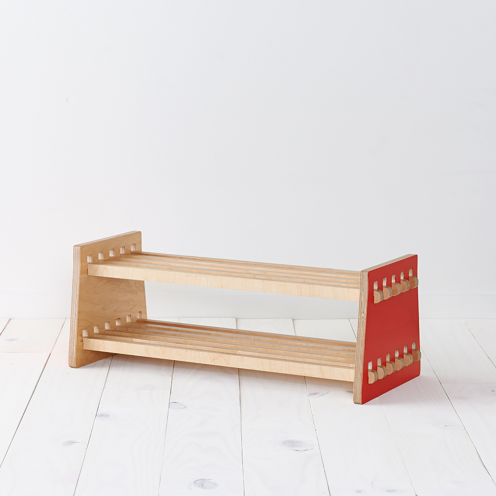 3x3 shoe rack: red