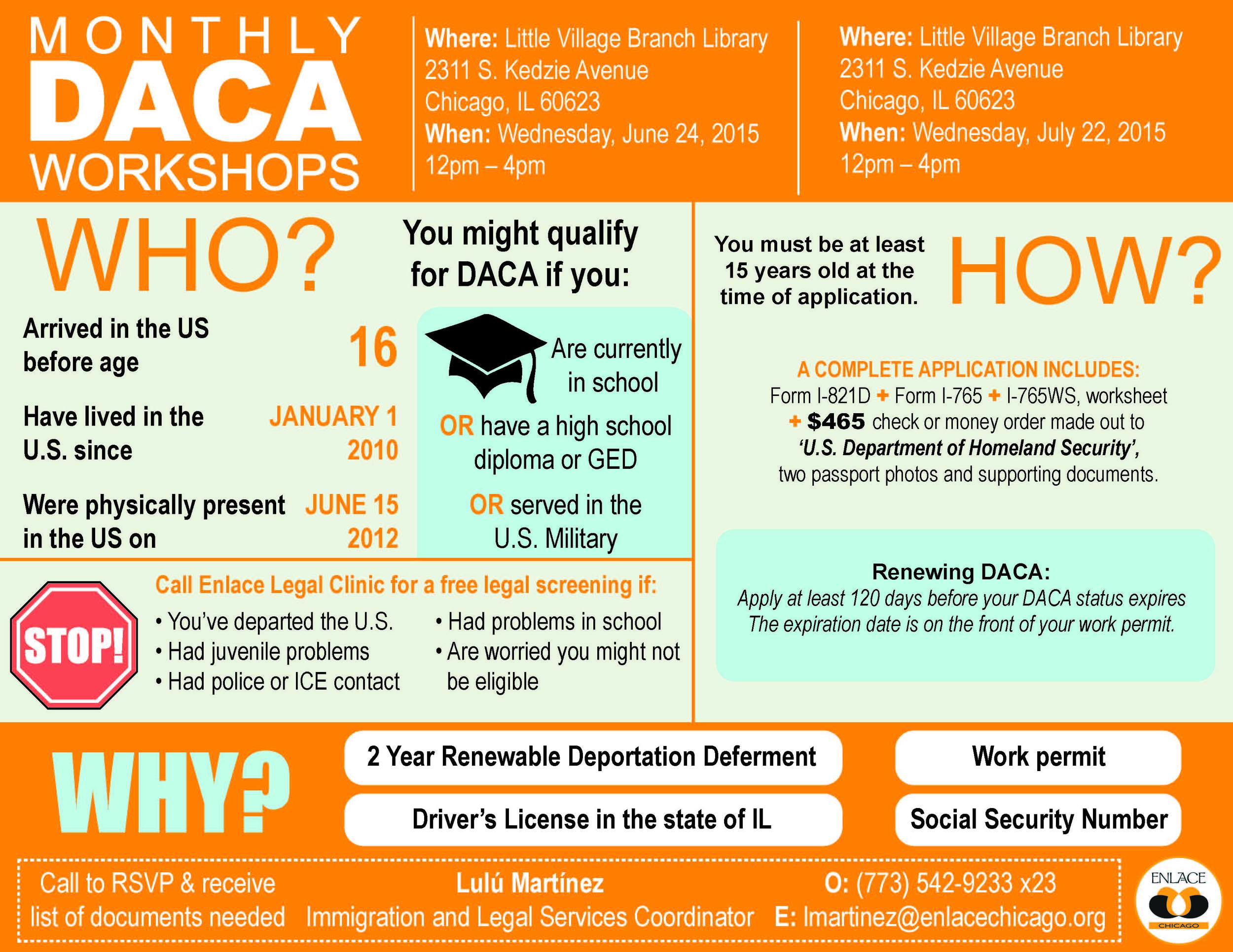 English June July DACA Workshop Flier