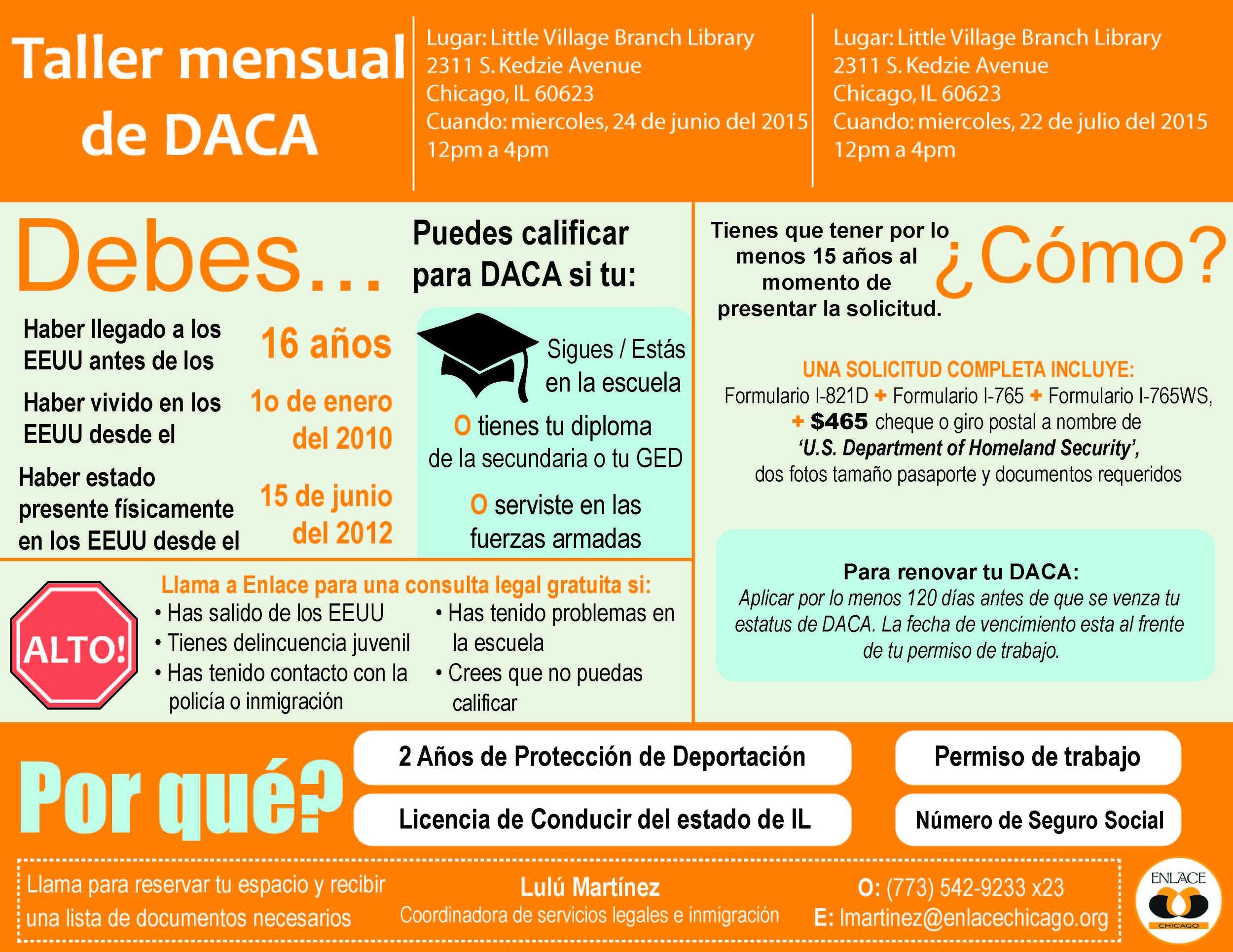 Spanish June July DACA Workshop