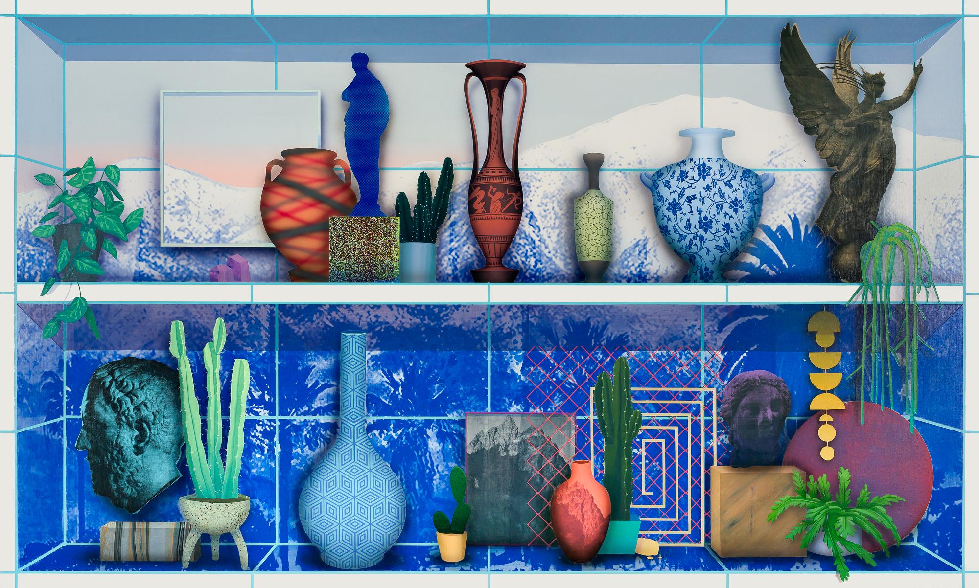 "A work from ""Robert Minervini: Future Collapse"" at Rena Bransten Gallery"