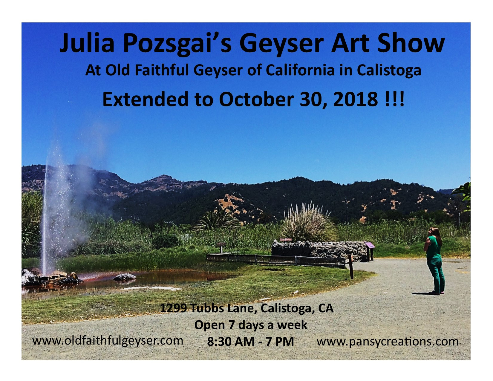 GEYSER ART SHOW POSTER w Julia at Geyser updated for extended show Oct 2018.jpg