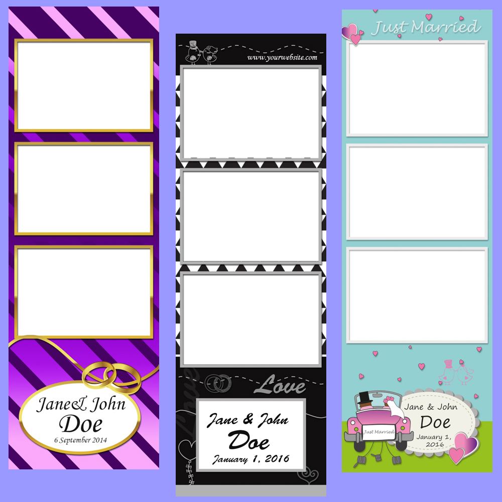 Wedding Templates - These templates use art that is specific to weddings, such as rings and wedding cakes