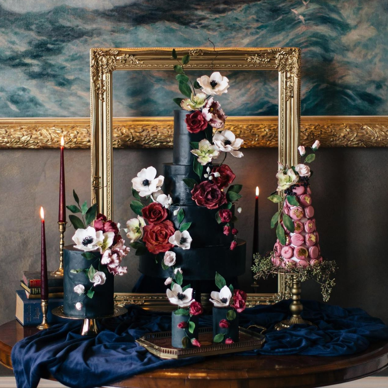 OPULENT WINTER COLLECTION  Deluxe rich jewel and berry tones & luxurious Silver & Golds