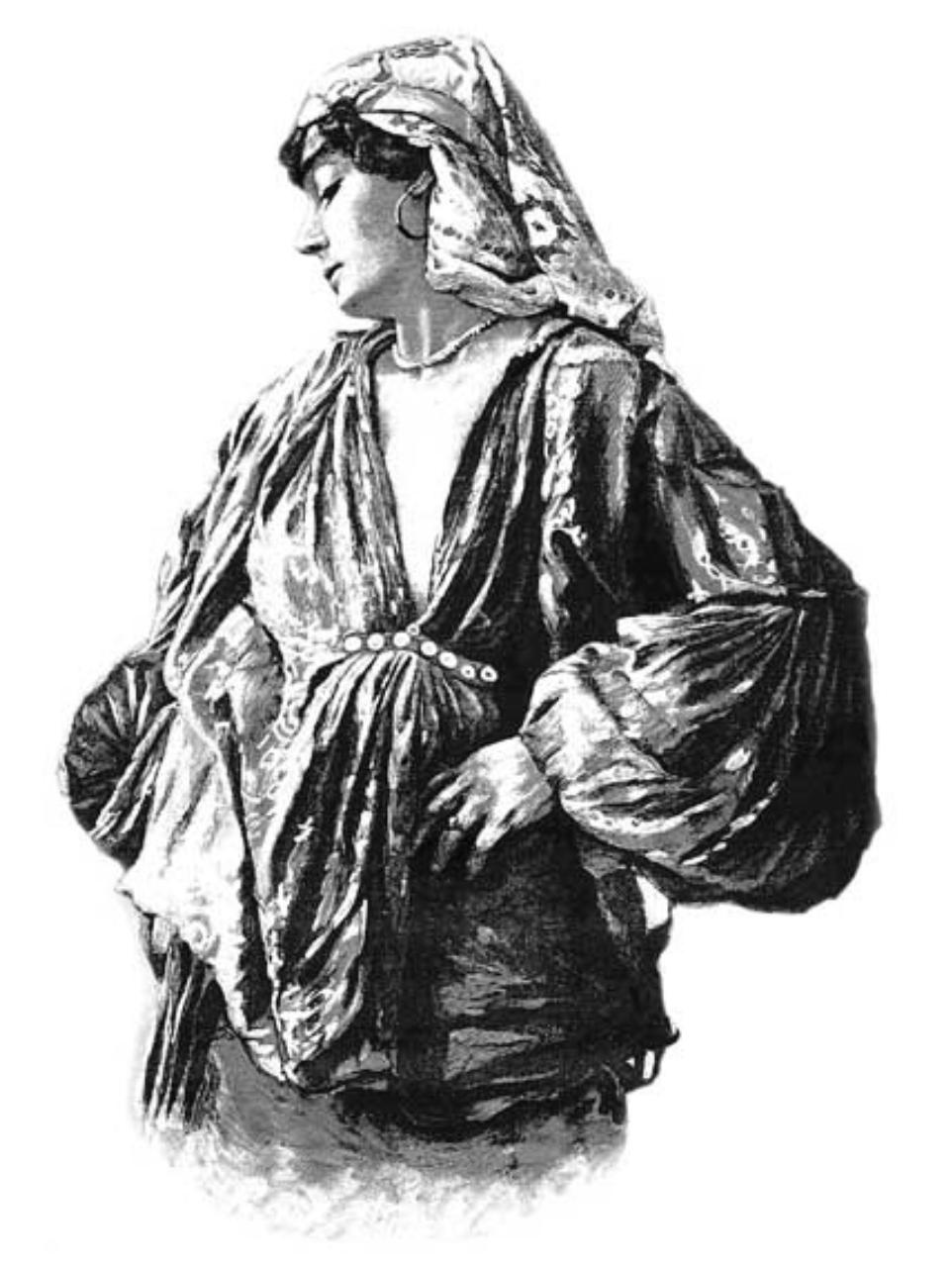 Польская цыганка. С. Масловский. Гравюра, 1892 г.