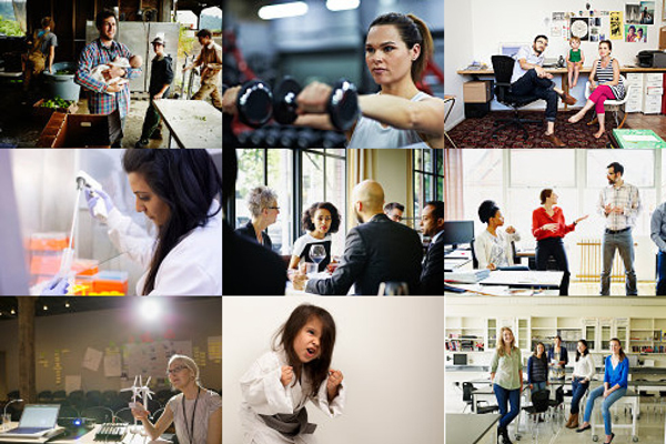 Images from Getty's Lean In Collection. Part of the proceeds go to the Lean in Foundation.
