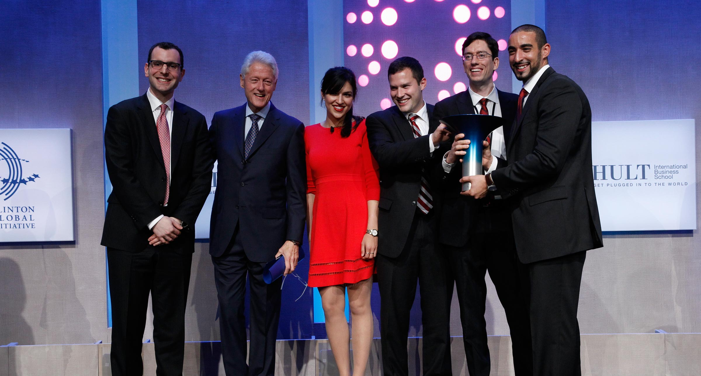 The winners of the 2014 Hult Prize Challenge