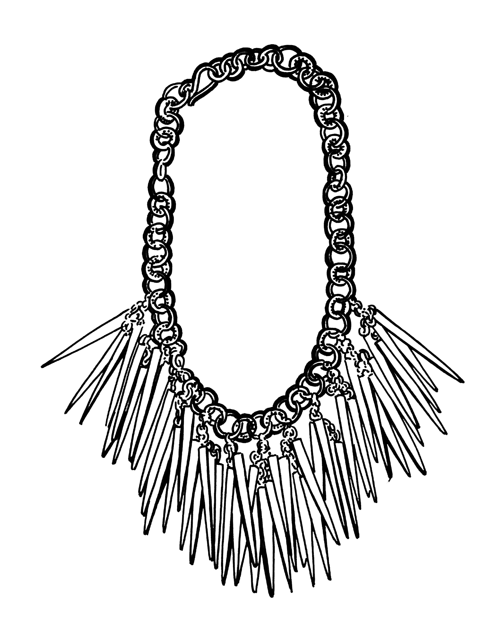 One of Soko's necklaces from the 2015/2016 collection