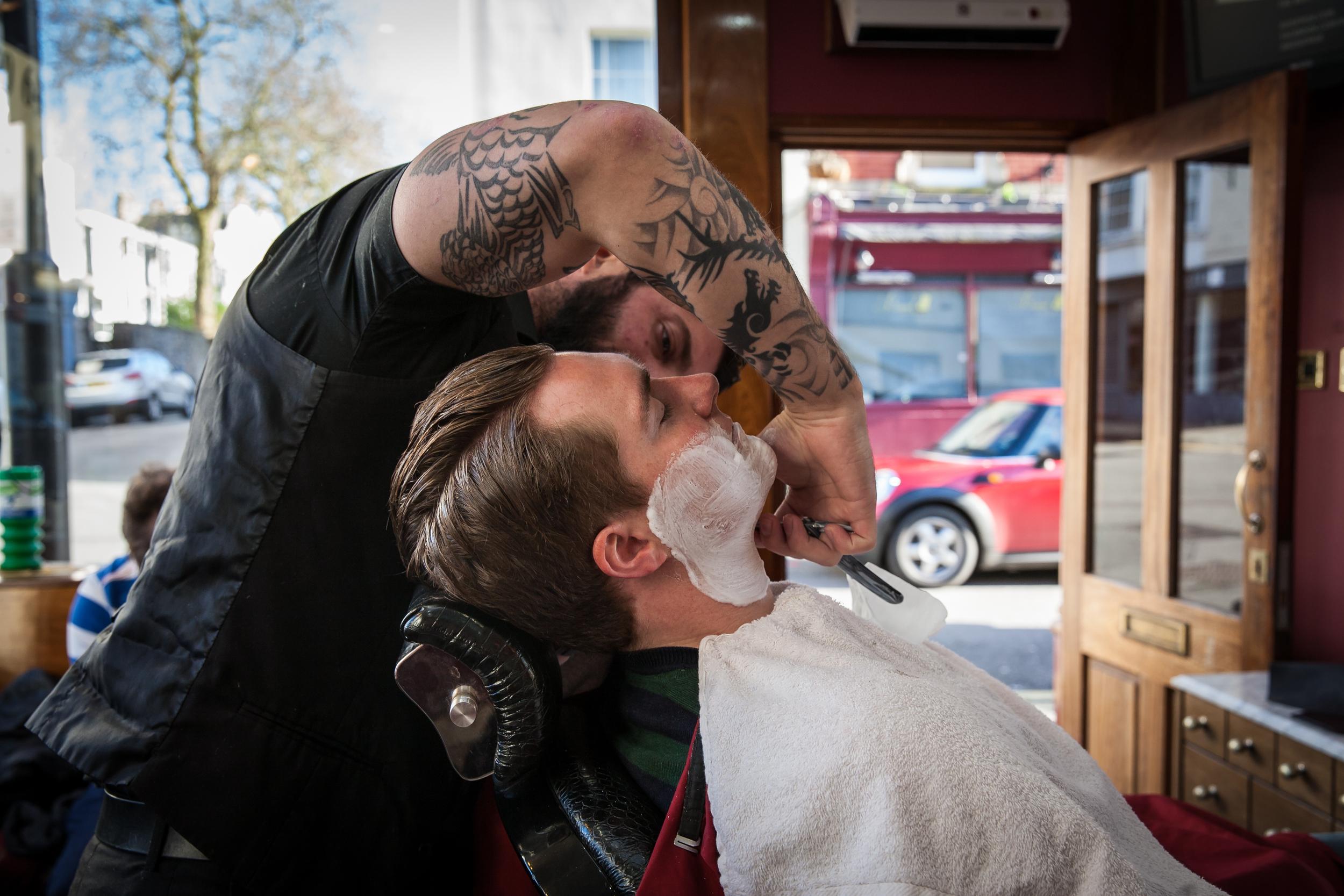 British Barber Shop, Clifton,Barber Shop Photo Essay for   Bristol 24/7 Magazine .