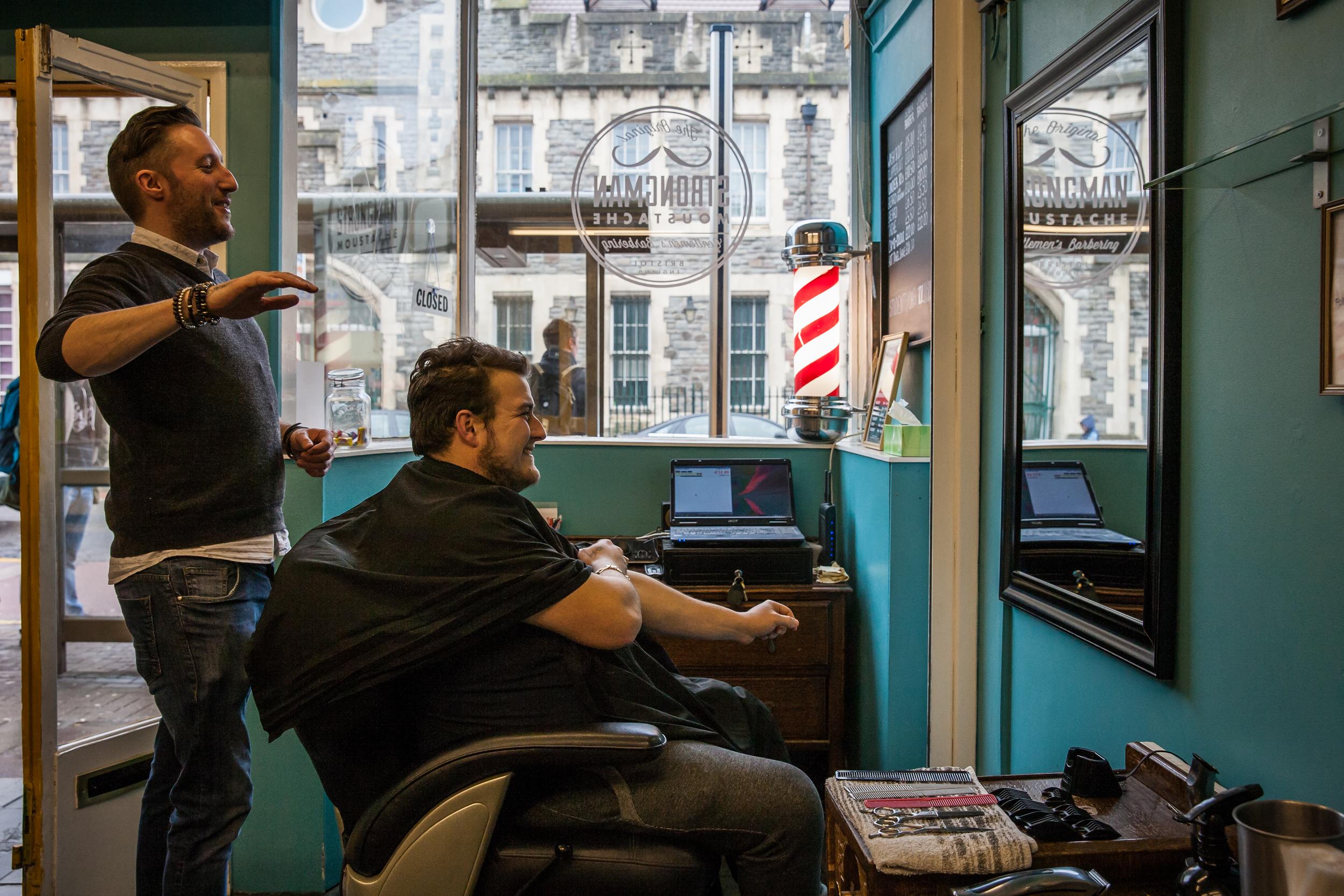 Strongman Moustache, Bedminster,Barber Shop Photo Essay for   Bristol 24/7 Magazine .