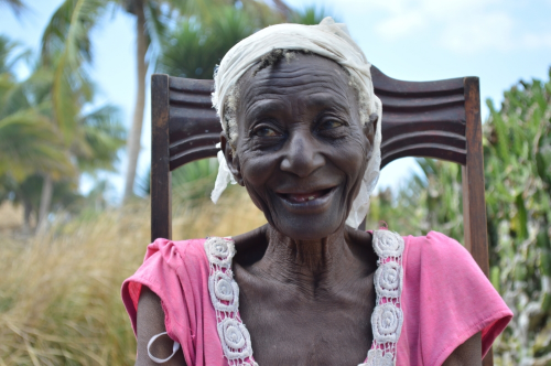 Madame Resia, one of our sweet ladies in the elderly widow program