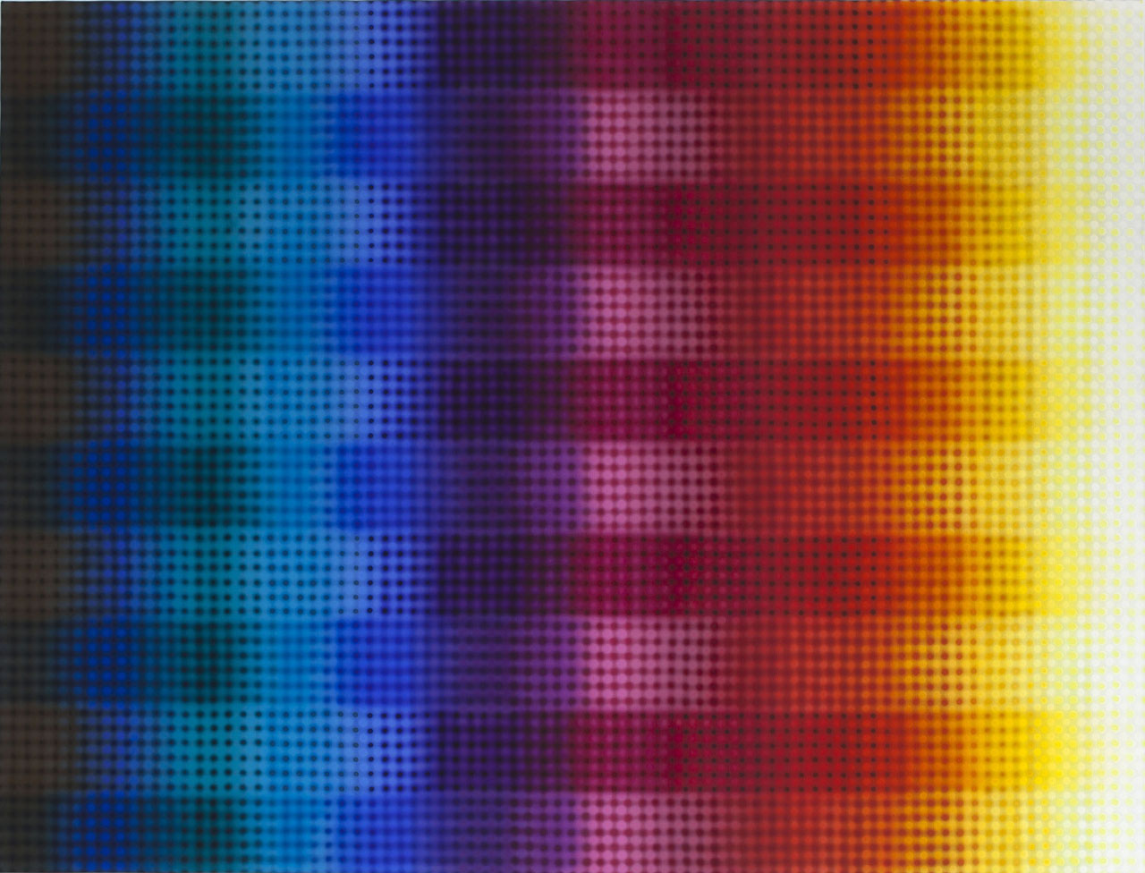 Li Shurui  ,   Inner Rainbow  , 2011, acrylic on canvas, 70 7/8 x 94 1/2 in. (180 x 240 cm)李姝睿, 室内彩虹, 2011, 布面丙烯, 70 7/8 x 94 1/2 寸 (180 x 240 厘米)