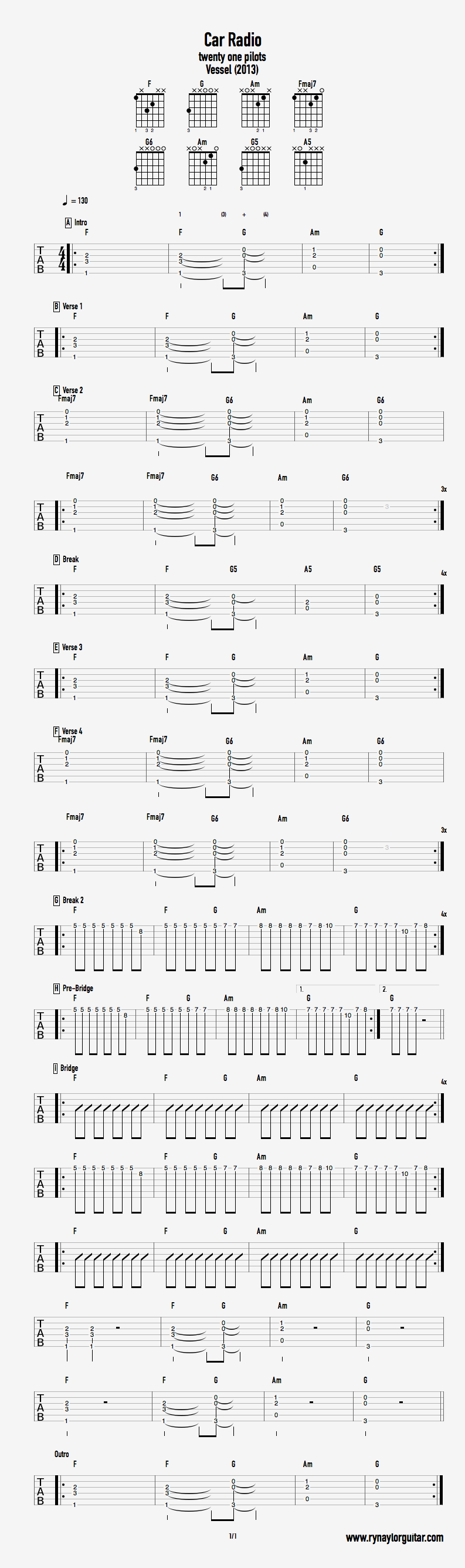 Car Radio — Ry Naylor Guitar