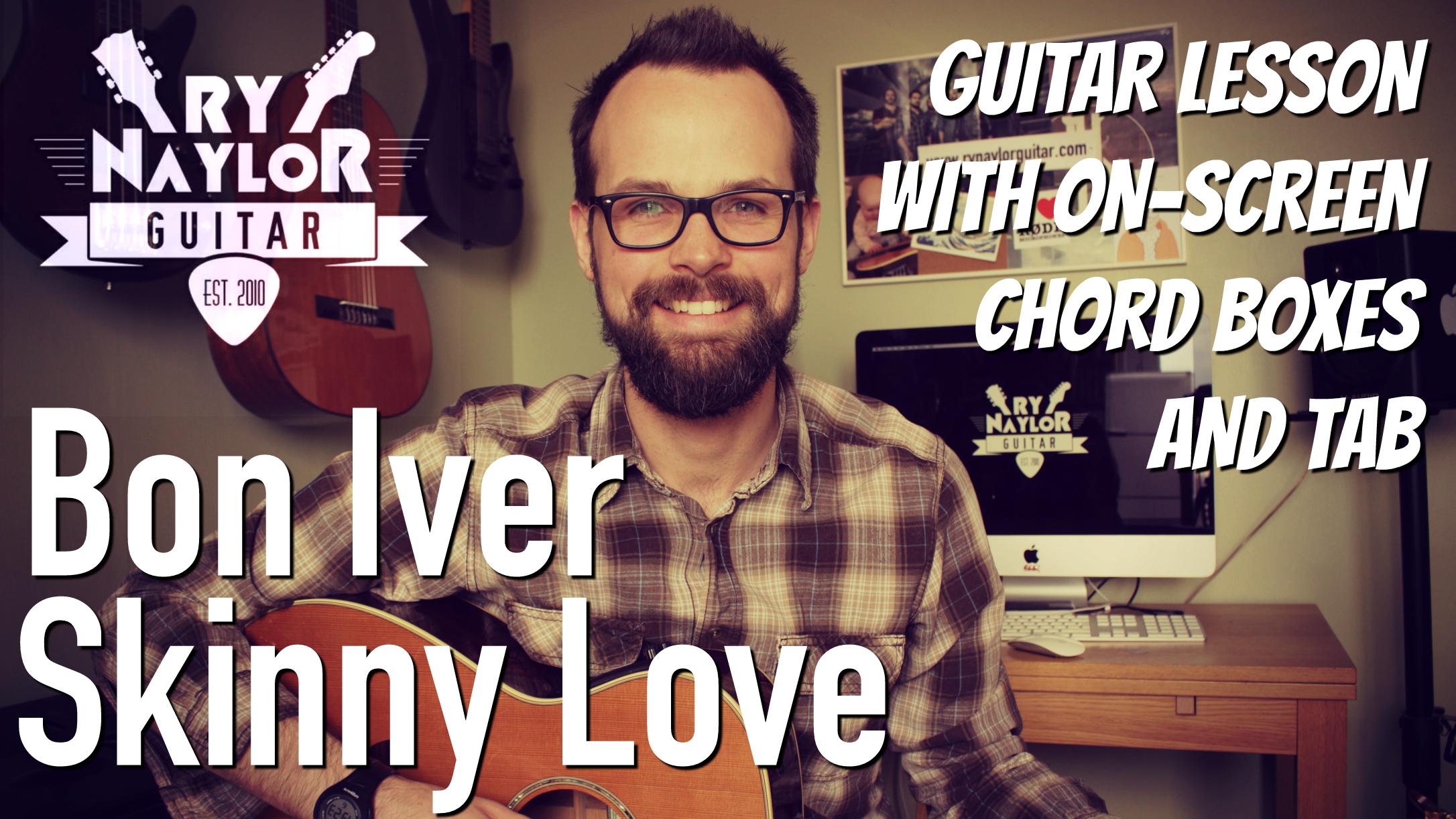 Ry Naylor Guitar Tab On Screen Chord Boxes Rhythm Slashes And