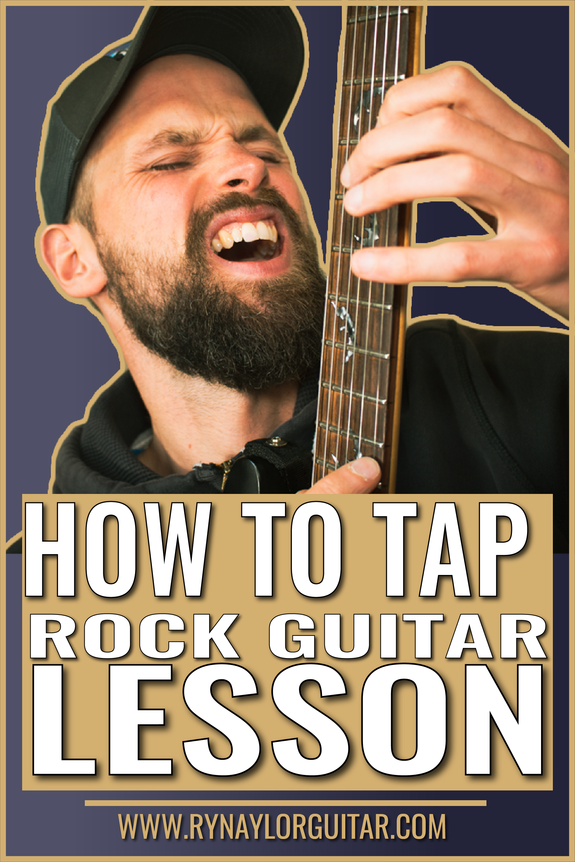 How to Tap Rock Guitar Lesson