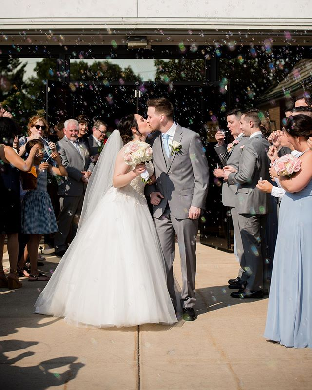 Best bubble exit in a long time! #bubbles #kisses #wedding