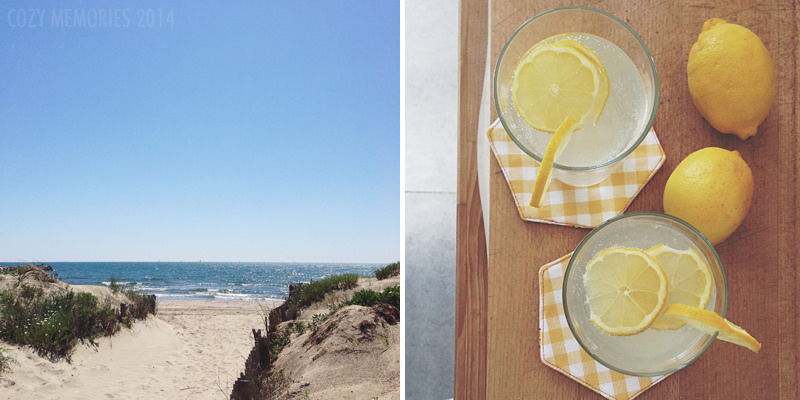 La Grande Motte (Hérault, France) / Sparkling water & lemon juice + slices