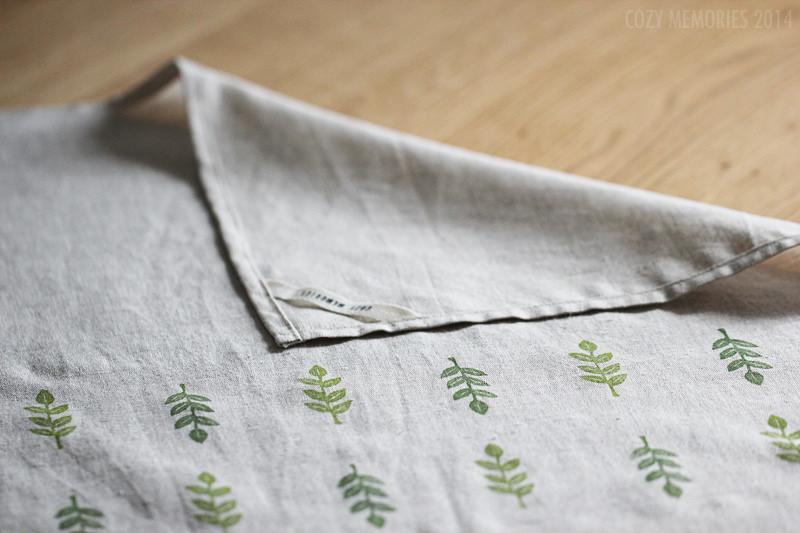 Foliage tea towel