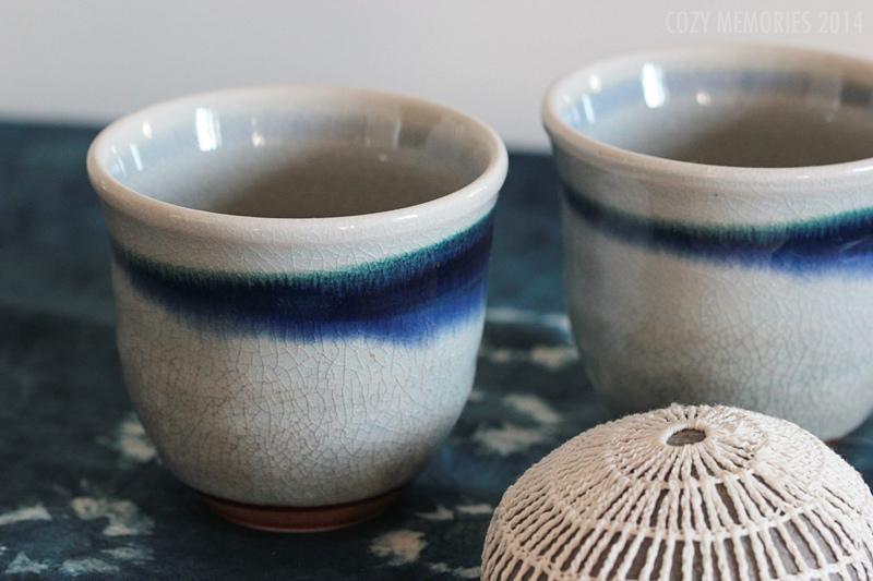 Crochetted stone & indigo shibori panel by Margie Oomen / Resurrection Fern