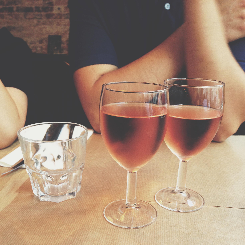 Rosé wine drinking