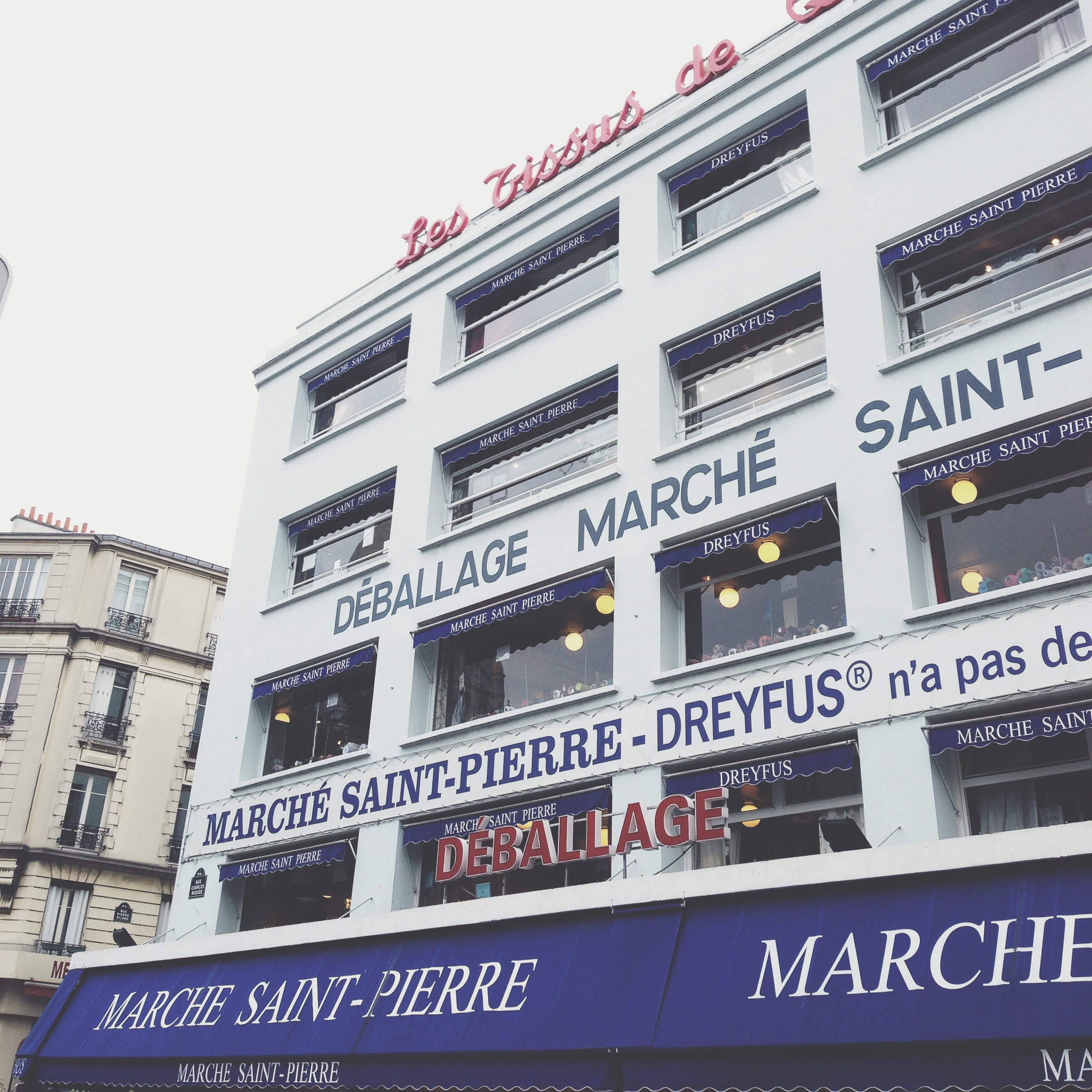 Marché Saint Pierre, where I buy some of my fabrics & all of my zippers