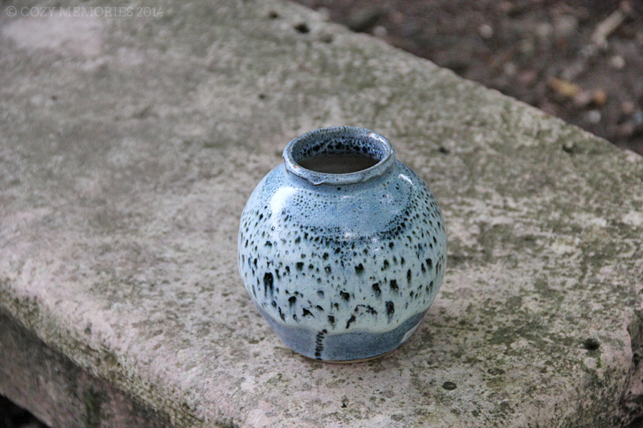 I bought this beautiful vase at the abbey shop but was made in   this other abbey   (also in Burgundy)
