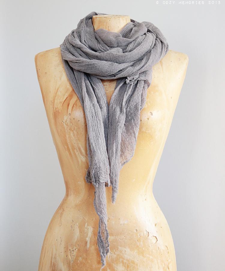 extra long cotton gauze scarf