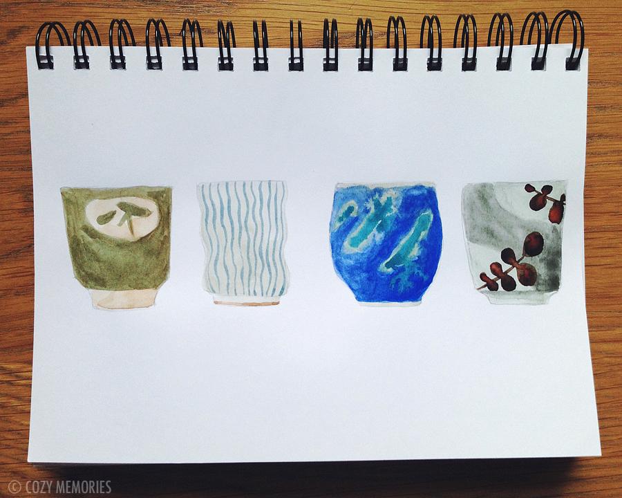 pencil & watercolors