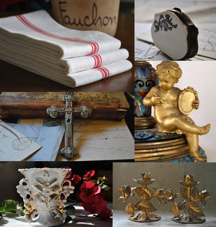Photographic Collage of French Antiques