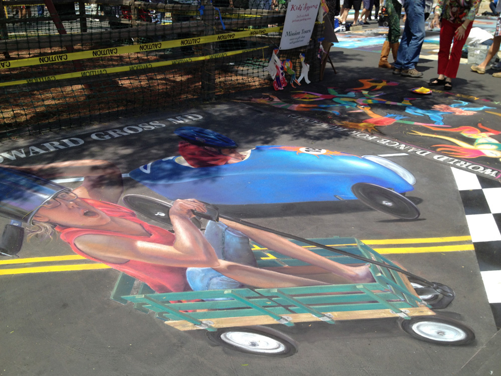 il Madonnari Italian Chalk Painting Festival Santa Barbara Ca