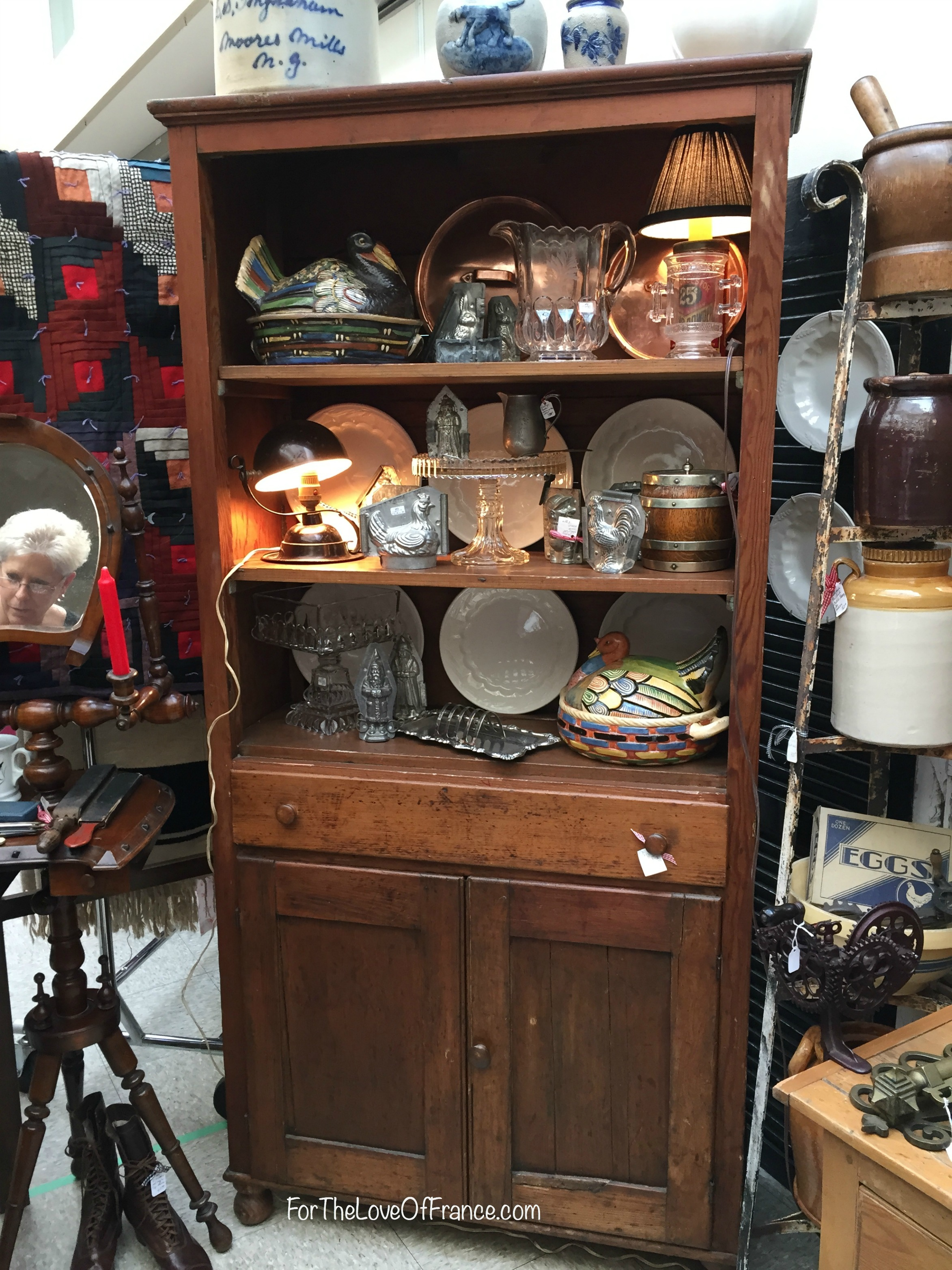Antique Kitchen Cupbaoad, Vintage Wooden Cupboard.jpg