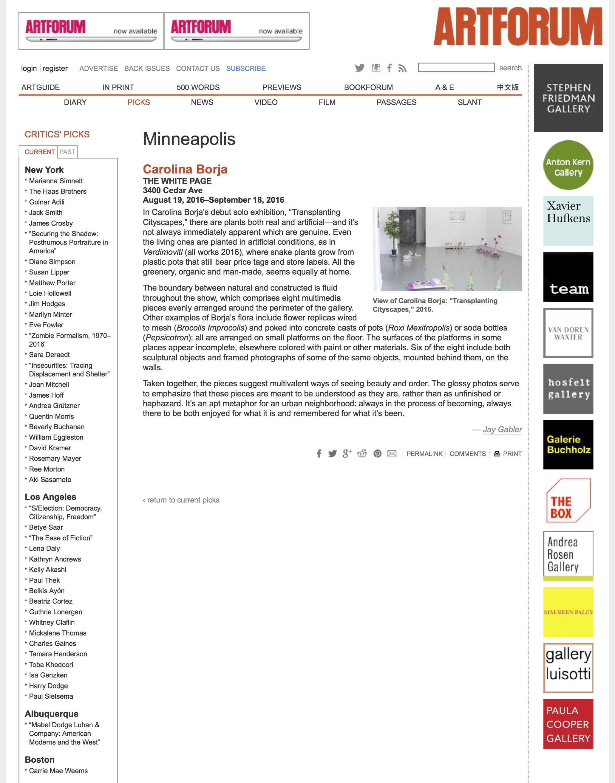 Carolina Borja at THE WHITE PAGE - artforum.com : critics' picks.jpg