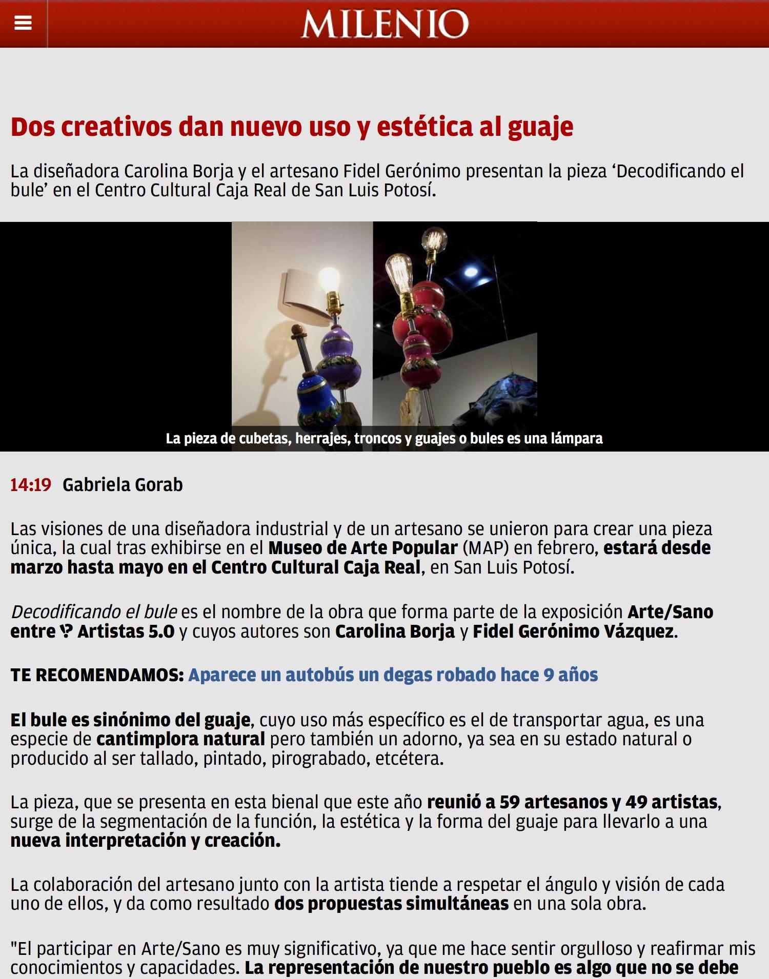 Dos creativos dan nuevo uso y estética al guaje - Grupo Milenio.jpg