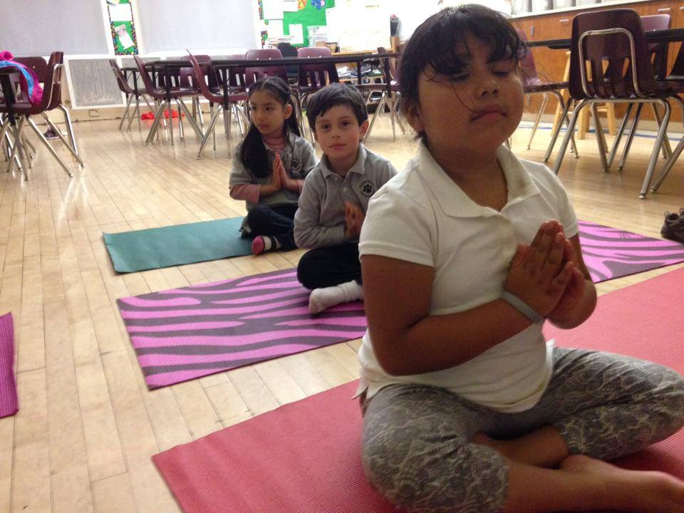 Practicing Mindfulness before school begins.