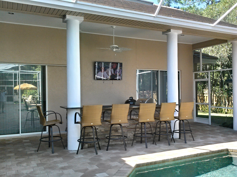 Clark Outdoor Kitchen & Water Feature - Full
