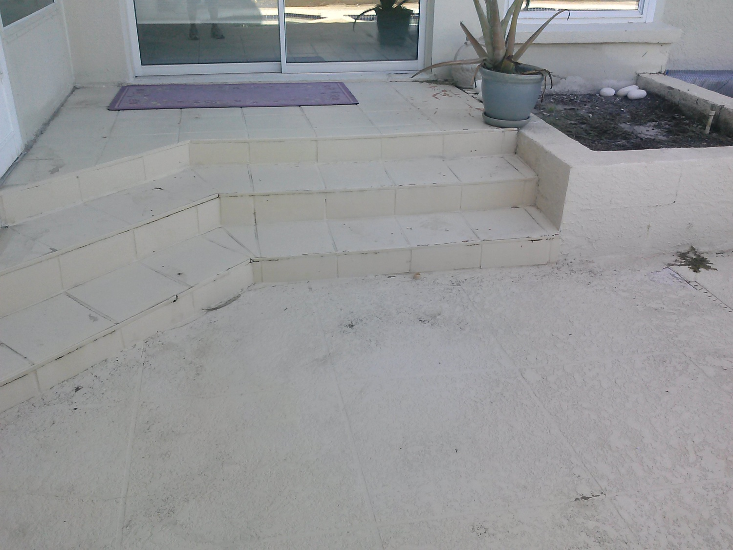 Before & After: Pergola, Outdoor Kitchen, and Stair Re-tile ...