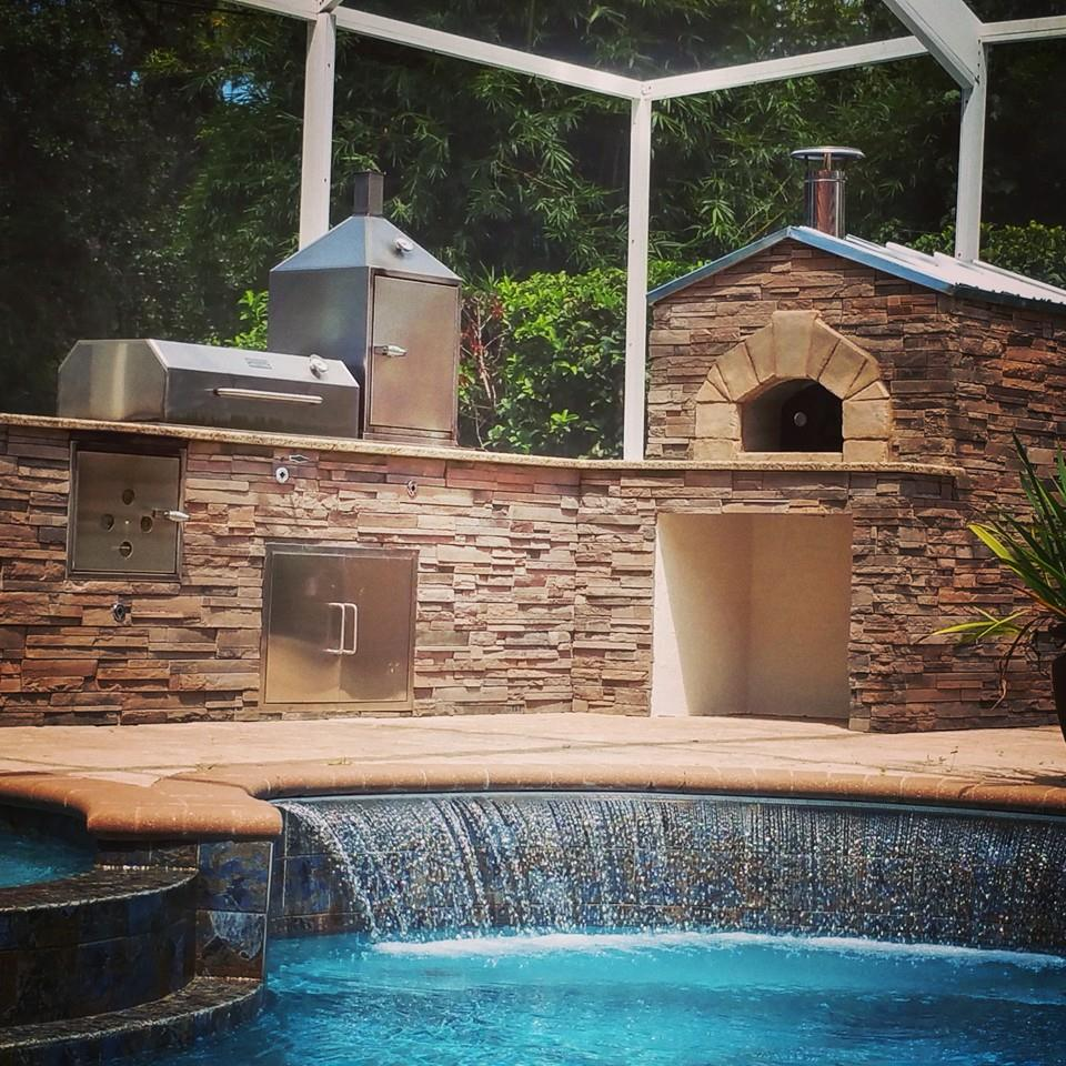 Premier Outdoor Living & Design pizza oven services in Florida.