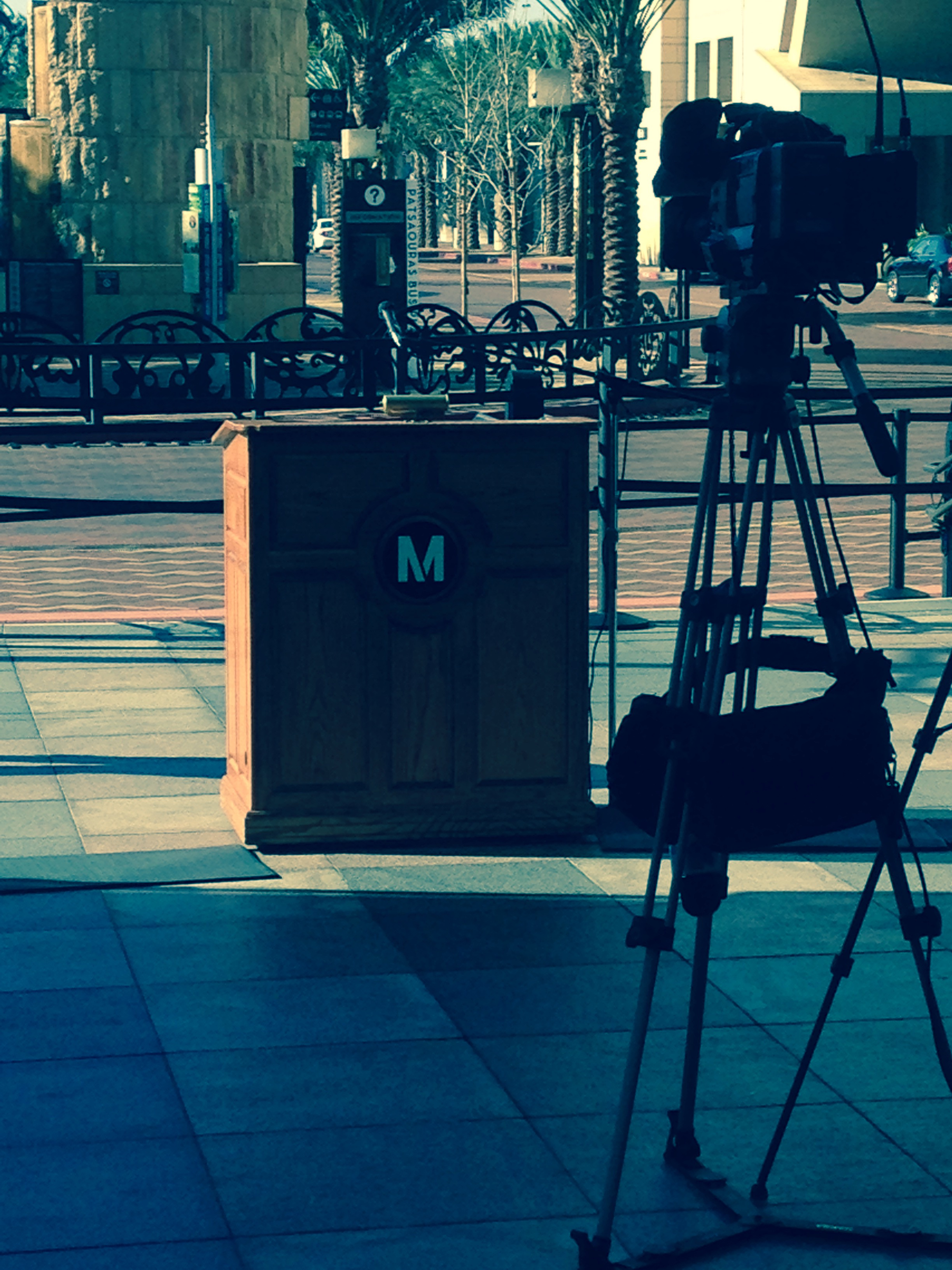 The media gathers to see the announcement of a new CEO at LA Metro.