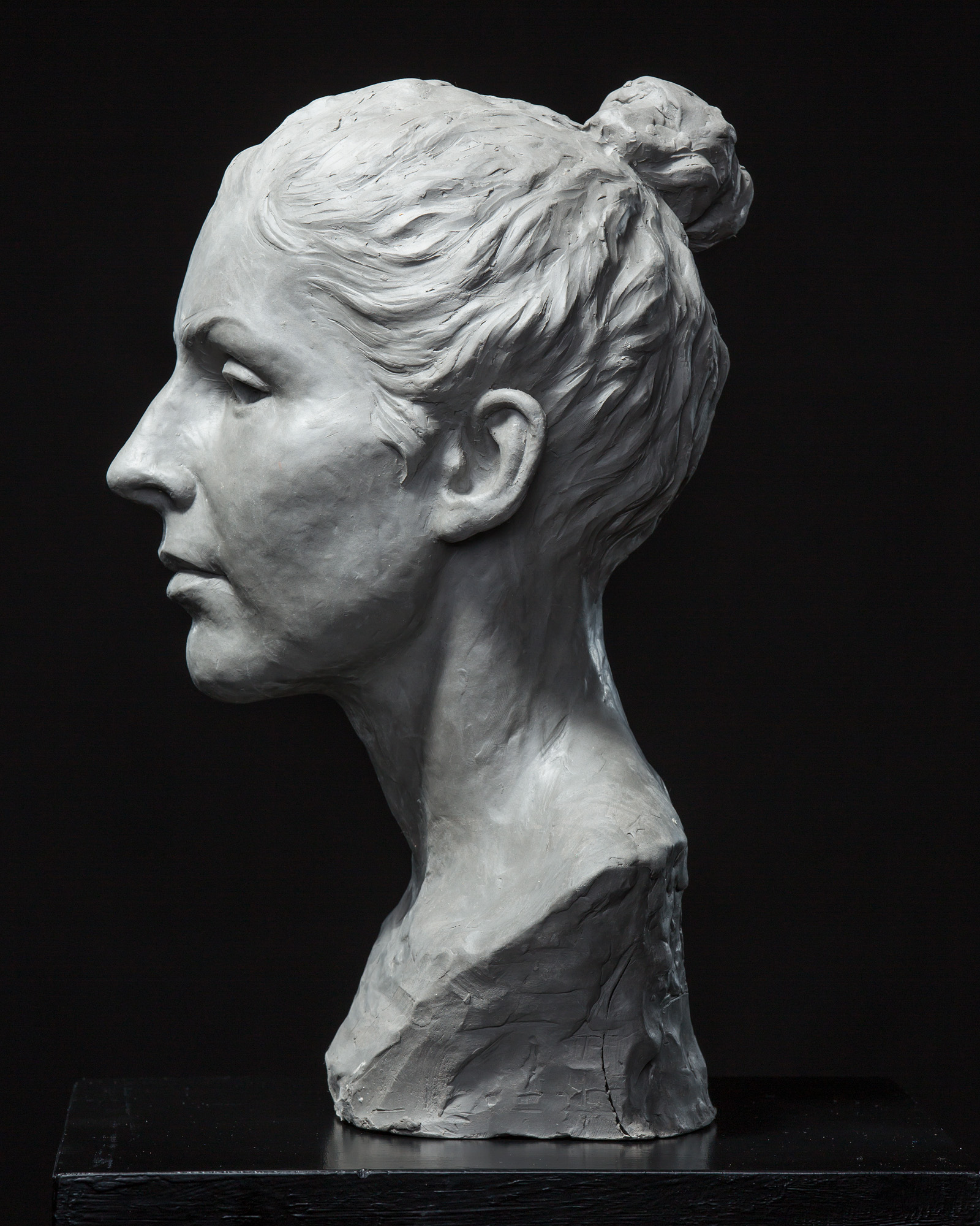Female Portrait Study in Clay