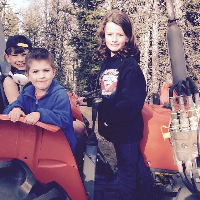 #tractor #ranchday #kubota #littlemonkeys