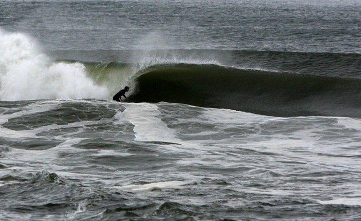 Dion bottom turning at Gilgo Beach. Photo: Wayne Kelly