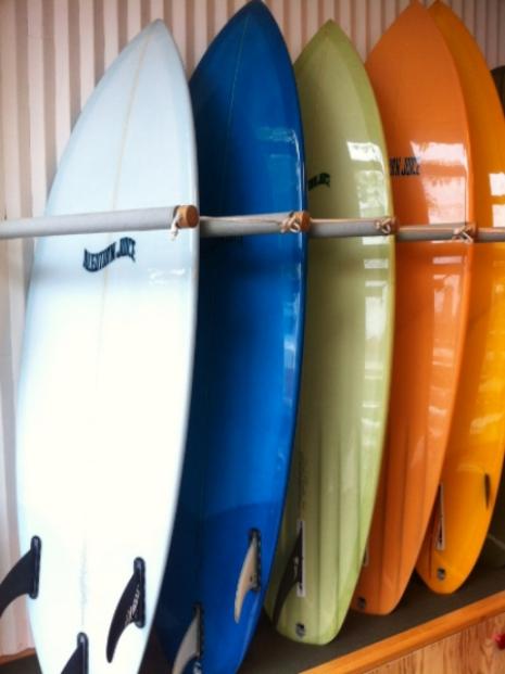 Aleutian Juice Surfboards in Pilgrim Surf + Supply, Brooklyn.