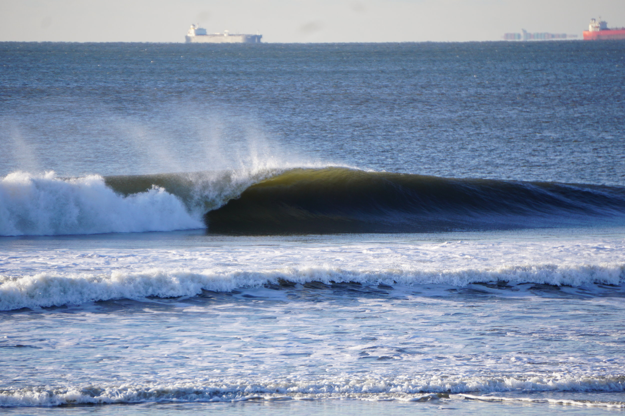 A drainer from last February. Don't let lack of solid gear keep you away from great winter surf. Pic: Dion Mattison