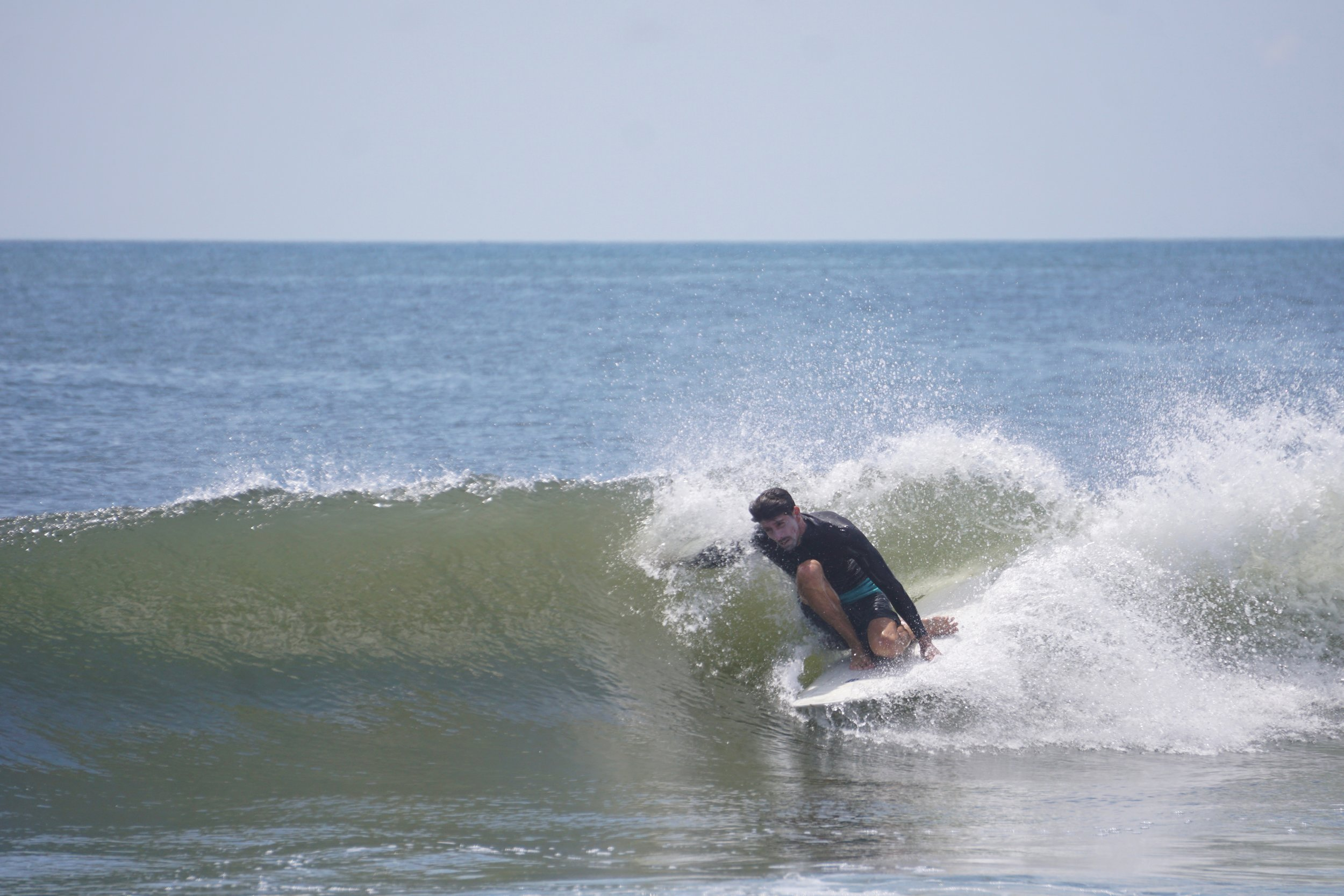 Making the calls at the beach ensures we find sandbars like this one. Juan on a mini summer runner.