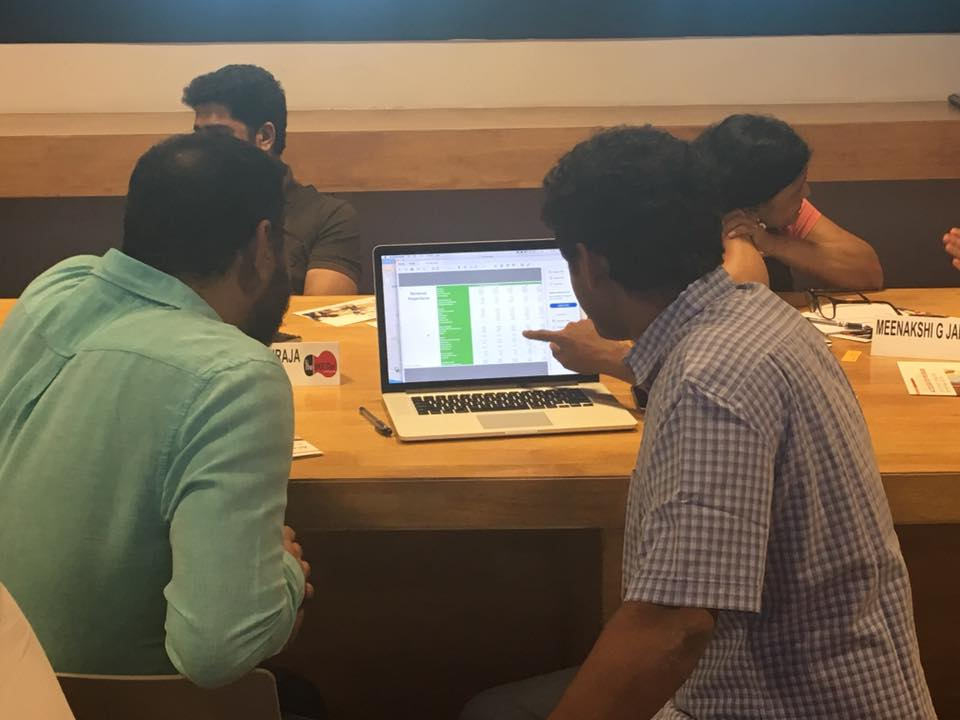 Siddarth Hande of Kabbadiwalla Connect working on his projections